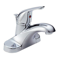 Delta - Delta B510LF Foundations Series Single Handle Centerset Lavatory Faucet (Chrome) - The old-world style and traditional charm of the Foundations series will bring an air of grace to any room in your home.