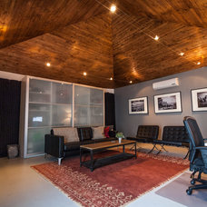 Transitional  Garage Studio Conversion
