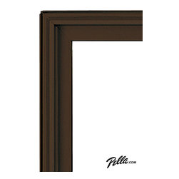 EnduraClad® Exterior Finish in Auburn Brown - Available on Pella Architect Series® and Designer Series® wood windows and patio doors, EnduraClad exterior finishes offer 27 standard and virtually unlimited custom color options.