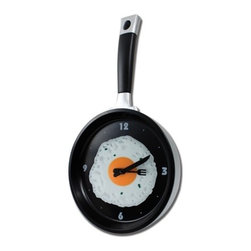 "Kito - 14"" Black Frying Pan and Eggs Wall Clock with Utensils as Arrows - This gorgeous 14"" Black Frying Pan and Eggs Wall Clock with Utensils as Arrows has the finest details and highest quality you will find anywhere! 14"" Black Frying Pan and Eggs Wall Clock with Utensils as Arrows is truly remarkable."