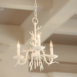 Ballard Designs - Coral 3-Light Chandelier - I love how unique this coral chandelier is. It's the perfect unexpected piece of nautical art.