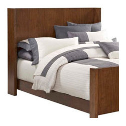 Broyhill� - Suede Panel Headboard - Features: -Distressed: No.-Gloss Finish: No.-Powder Coated Finish: No.-Non Toxic: No.-Scratch Resistant: No.-Adjustable Height: No.-Nailhead Trim: No.-Lighting Included: No.-Wall Mounted: No.-Reversible: No.-Media Outlet Hole: No.-Built In Outlets: No.-Hidden Storage: No.-Freestanding: No.-Frame Required: Yes.-Frame Included: No.-Drill Holes for Frame: Yes.-Swatch Available: No.-Product Care: Never allow water or damp items to sit on your headboard including cleaning cloths, sponges, etc. Never allow alcohol-based products including some cleaners, nail polish and perfumes to come in contact with the wood. They can dissolve the furniture finish on contact, requiring professional repairs. Chemicals in plastic may soften and injure the finish if exposed over a long period of time. Avoid placing hot objects on any furniture surface. Prolonged exposure to direct sunlight can fade the finish, while extreme temperature and humidity changes can cause cracking or splitting. Dust frequently with a clean, damp lint-free cloth to remove abrasive buildup which can damage the finish over time. Occasionally polish with a high-quality non-silicone furniture polish every few months to enhance the beauty of the multi-step finish. Spray the polish onto a clean cotton cloth, apply it to the furniture, and then buff with a second clean, dry cotton cloth. Note that any polish may make a low sheen finish appear more glossy. Avoid oily polishes and waxes. Remove sticky accumulations of skin oils to avoid professional repairs. Wipe the area with a clean cotton cloth dampened with mineral spirits, then buff with a second clean cotton cloth. Touch up small marks and scratches with a marker, scratch remover, or touch-up stick. These can be purchased at any paint store..-Recycled Content: No.Specifications: -Green Guard Certified : No.Assembly: -Assembly Required: Yes.-Additional Parts Required: No.Warranty: -Product Warranty: Limited.