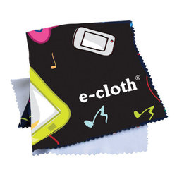 E-Cloth Personal Electronics Cloth Single Pack - Making the digital devices you're in touch with clean and hygienic.  This world has evolved into one that lets us communicate  enjoy customized music  and get information anywhere we go. Now there's a way to effectively clean and protect cell phones  MP3 Players  PDAs  GPSs and Rangefinders. Hand-held digital devices continually collect greasy fingerprints  dirt  oil  and disgusting bacteria. They also have sensitive screens requiring careful cleaning that doesn't damage them. E-cloth's peerless fabrication creates a microscopic textured fiber that penetrates and thoroughly removes all these forms of grime with no harm to electronics or screens.  Product Features                        Safe cell phone cleaning - because of its constant contact with the facial area  cell phones have cleaning issues all their own. Lipstick  hairspray  make-up  sweat and saliva allow grime and bacteria build-up. E-cloth removes these impurities naturally using just fiber function. On stubborn build-up  slightly dampen part of the cloth with plain tap water and wipe the phone. Just water - never any chemicals.            Protects your investment - regular cleaning prolongs the life of expensive electronic devices ensuring peak performance.            Healthier cleaning - no harmful chemicals or fumes because E-cloth uses fiber function to clean - not a chemical reaction. E-cloth cleaning is safe for everyone - especially important to allergy and asthma sufferers.            Eco-friendly cleaning - E-cloth reduces paper towels landfill waste  and pollution that chemicals create.            Years of cleaning performance - E-cloth performance is guaranteed for 300 machine washings.