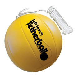 Park & Sun - Park & Sun Soft Touch Tetherball - BALL-300TB - Shop for Sport Toys from Hayneedle.com! The Park & Sun Soft Touch Tetherball is a great way to add a little punch to a beach bash or backyard barbeque. Whether you're new to the game or are looking for a replacement ball this soft-touch tetherball will bring fun for the whole family. The regulation-size 7-inch ball is made of ultra-comfortable PVC/nylon material so it's softer than a traditional rubber ball and won't burn or bruise hands and forearms. Included are a 5mm nylon rope that spans 7 feet and a swivel hook attachment that will have you swinging in no time. With an internal cord connector and inset valve stem this sunny yellow tetherball now features a new and improved beach ball design that is sure to stand out from the crowd. About Park and Sun Sports Park and Sun Sports is based in Englewood Colorado. The Sporting Goods Manufacturers Since 1985 Park & Sun Sports has designed distributed and manufactured high quality sporting goods athletic equipment and unique games from their headquarters in Englewood CO. Through the talents of their dedicated team and the inspiration of the consumer Park & Sun Sports will continue to demonstrate innovation quality passion and superior service through the products that they offer.