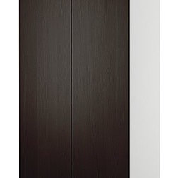 IKEA of Sweden - PAX Wardrobe with 2 doors - Wardrobe with 2 doors, white, Nexus black-brown