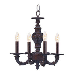 Crystorama - Crystorama Sutton 1 Tier Chandelier in Venetian Bronze - Shown in picture: Sutton Collection Wrought Iron Mini Chandelier; Sutton Collection's Venetian Bronze finish compliments this Victorian style collection.