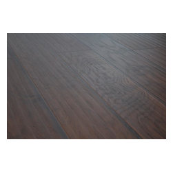 Lamton - Lamton Laminate - 12mm Wide Board Collection - [21.3 sq ft/box] - Hickory Ebony -  Lamton brings you top-quality, AC3-rated, CARB-ATCM - Phase 1 compliant, HDF-core laminate flooring. This line of Lamton 12mm comes with a textured surface that replicates a hardwood appearance.     Lamton panels feature the easy-install click-lock locking system which are effortlessly installed without gluing and can be installed over radiant heat; on, above or below ground. This immaculate laminate flooring is produced to reflect an exact replica of wide plank hardwood flooring. This 12mm laminate is safe to install over radiant heat and comes with a 25 year warranty. Combine these features with an exceptionally low price point, and it is clear that Lamton Laminate is an economical choice that doesn't compromise quality.