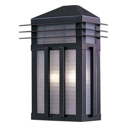 Maxim Lighting - Maxim Lighting 8723PRBU Gatsby 2-Light Outdoor Wall Lantern in Burnished - Gatsby is a traditional, craftsman/mission style collection from Maxim Lighting International in two finishes, Burnished or Pewter, with Prairie Rib Frost glass.