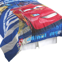 Jay Franco and Sons - Disney Cars Track Burn Full-Double Bedding Comforter - Features: