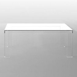 Kartell - Kartell | Invisible Coffee Table, Square - Design by Tokujin Yoshioka.