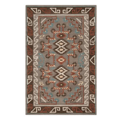 Surya - Surya Arizona Rug X-32-3001ZRA - The Arizona collection created by Dick Idol, will bring the warmth of a campfire to any room. The rich nature inspired colors of browns, reds and golds and the bold Southwestern patterns, make this collection the perfect addition to enhance any rustic design. Made from 100% wool, these plush pile rugs are hand tufted in India.