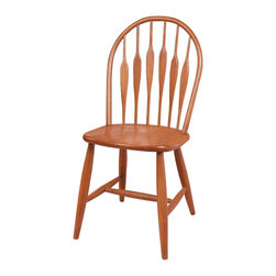 Renovators Supply - Side Chairs Heirloom Beechwood 38 1/2'' H Arrowback Side Chair - Arrowback Chair. This side chair is a classic great value.  This arrowback side chair provides traditional and comfortable seating. Crafted of beechwood hardwood it is stained and lacquered with an Heirloom Stain finish. Measures 38 1/2 in. high x 18 in. wide x 20 in. deep.
