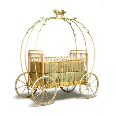 Cinderella Carriage Crib - This version of Cinderella's carriage is fit for a baby princess. I love that it has wheels and is still the standard crib size and shape.