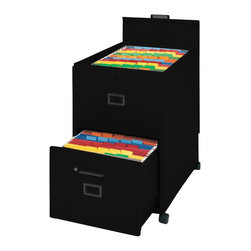 Mayline - Mayline Mobilizer 2 Drawer Mobile Vertical Filing Cabinet in  Black - Mayline - Filing Cabinets - 9P620BLK -