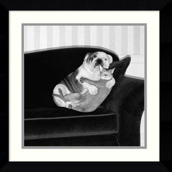 "Amanti Art - ""Forbidden Love"" Framed Print by Howard Berman - Caught in the act! This charming black and white print by Howard Berman is guaranteed to make you smile every time you walk by. This fun picture also makes a perfect gift for the animal lover in your life."