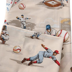 Traditions by Pamela Kline - Traditions Linens World Series 280 Thread Count Egyptian Cotton Sheet Set Multic - Shop for Sheets from Hayneedle.com! The Traditions Linens World Series 280 Thread Count Egyptian Cotton Sheet Set scores a home run for its eye-catching baseball print. Available in twin full and queen sizes this super-soft and cozy 280-thread count sheet set is made from comfortable 100% Egyptian cotton fabric. Machine washable for easy maintenance it features a fun baseball-themed design against a soothing beige background. Perfect for young sports fans this set includes a fitted sheet flat sheet and coordinating pillowcases. The twin set comes with one standard pillowcase while full and queen sets include two standard pillowcases.About Traditions LinensBased in Claverack N.Y. Traditions Linens is a family business that has been a leader in the world of home textiles bed linen design and manufacturing for more than 35 years. Drawing inspiration from her background in antiques the beauty of the Hudson Valley and her frequent travels Pamela Kline creates fine bedding collections that layer texture color and pattern in all-natural fibers and with meticulous attention to detail. The company's product line includes blankets sheet sets quilts towels window treatments duvet covers decorative pillows and more. Their products can be found in specialty boutiques home furnishing stores catalogs and online retailers in the United States Canada Europe South America and Asia.