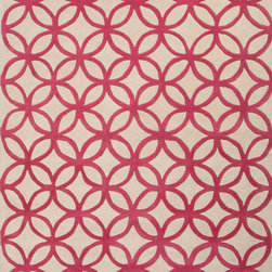 Jaipur Rugs - Hand-Tufted Geometric Pattern Wool Red/Taupe Area Rug ( 5X8 ) - Whimsical flowers, patterns and colors define this wool tufted range.
