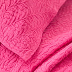Pine Cone Hill - scramble matelasse coverlet (fuchsia) - Make a statement with intricately stitched branches that twine over this soft cotton matelasse coverlet.��This item comes in��fuchsia.��This item size is��various sizes.