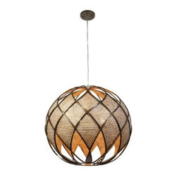 Varaluz 203P06 Argyle Downlight Pendant - 24W in. New Bronze - About Varaluz:Committed to preserving the earth, Varaluz creates products from reclaimed and recycled materials. Most of their lighting fixtures are made from steel containing 70% or greater recycled content, and 100% recycled glass. This practice helps cut down on manufacturing waste, giving you peace of mind when installing their fixtures in your home.