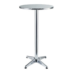 Modway - Modway EEI-548 Elevate Bar Table in Silver - Imbue your Indoor/Outdoor gatherings with an uplifting instrument of service. Invoke overflowing plenitude with a work that collects the best of your surroundings and presents it for all to see. Thrive together and extract something precious as the Elevate Modern Round Aluminum Bar Table continually exceeds expectations.
