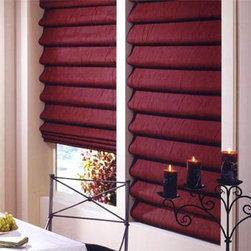 Bali - Bali Casual Classics Roman Shades: Statement - Casual Classics Roman shades offer the softness of a drapery with the practicality of a shade.  Statement features a crinkled satin look in solid colors for a sophisticated look.