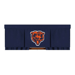 Sports Coverage - NFL Chicago Bears Valance MVP Football Window Treatment - FEATURES: