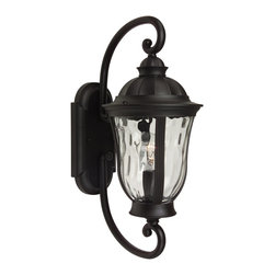Exteriors - Exteriors Frances Traditional Outdoor Wall Sconce - Small X-29-0006Z - The Craftmade Frances Traditional Outdoor Wall Sconce - Small - CM-Z6000-92 provides a beautiful shape that's uncommonly dramatic coupled with hammered clear glass reminiscent of romantic evenings, is the unique style of Craftmade's outdoor lighting series. The oiled bronze finish ensures premium quality and the friendly glow makes this fixture suitable for your porch, patio, or garage.