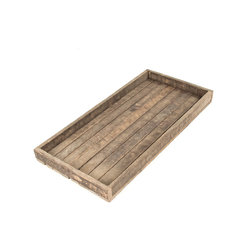Zentique - Lana Tray, Rectangle - The Lana Tray is made of tobacco sticks.
