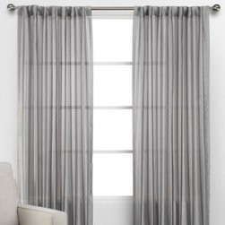 Z Gallerie - Coterie Panels - Adorn your windows in effortless style with our semi- sheer Coterie Panel. Created exclusively for Z Gallerie, our lightweight panels offer a stunning complement to a wide variety of décor settings.  Available in a pleasing shade of silver, each of our Coterie panels are sold individually.