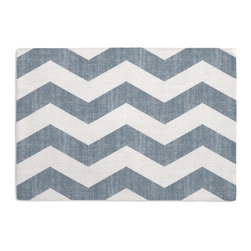 Aqua & White Chevron Custom Placemat Set - Is your table looking sad and lonely? Give it a boost with at set of Simple Placemats. Customizable in hundreds of fabrics, you're sure to find the perfect set for daily dining or that fancy shindig. We love it in this graphic chevron in a washed aqua blue & ivory on lightweight linen adds a punch of color to the contemporary home.