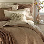 SFERRA - SFERRA King Quilt Set - Revel in the amazing comfort of Sferra's Delancey bed linens collection in mix-and-match hues. Each piece becomes softer, more drapable, and more inviting with each wash. All of machine-washable cotton except wool felt petal pillow; dry clean. For all,....
