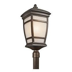 KICHLER - KICHLER 49275RZ McAdams Transitional Outdoor Post Lantern - KICHLER 49275RZ McAdams Transitional Outdoor Post Lantern