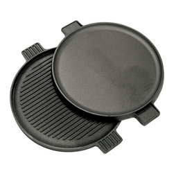Bayou Classic - Bayou Classic 14-inch Cast Iron Reversible Round Griddle - This reversible griddle features a cast iron construction. With a reversible design,this griddle makes a great addition to any kitchen.
