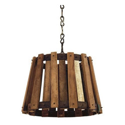 Transitional Crate Pendant Light
