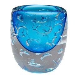Cyan - Bristol Vase, Cobalt Blue - Weight: 11.75 lbs.