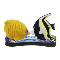 WL - 2.75 Inch Tropical Fish Kissing Mother's Miracle S and P Shakers - This gorgeous 2.75 Inch Tropical Fish Kissing Mother's Miracle S and P Shakers has the finest details and highest quality you will find anywhere! 2.75 Inch Tropical Fish Kissing Mother's Miracle S and P Shakers is truly remarkable.