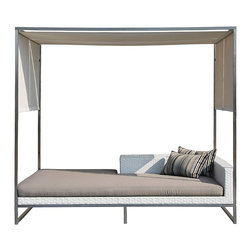 Jane Daybed with Canopy - I'd gladly spend my summer lounging on this outdoor day bed with a mai tai in one hand. That's not likely to happen, but a girl can dream!