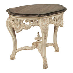 American Drew - American Drew Jessica McClintock Boutique End Table with Revival Top - End table with Revival Top belongs to Jessica McClintock collection by American Drew