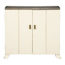 Vanguard - Keto Chest - Befitting of the pristine and snowy tundra, the Siberian style of white wood with gold leaf accents evokes a Northern European clean and streamlined tone. Perfect for an entryway, den, bedroom or mudroom, this multipurpose chest will melt your heart.