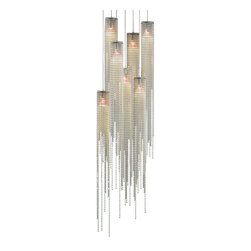 NOVA Lighting - Bead 7-Light Pendant - Jewelry for the home. Sleek, elegant bead elements come together with brushed nickel to add instant glamour and sophistication to any decor.