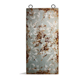 Koenig Collection - Old World Mediterranean Wall Art Panels, Celeste Distressed with Amaryllis - Old World Mediterranean Wall Art Panels