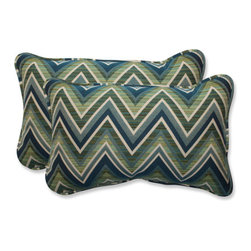 Pillow Perfect - Fischer Blue and Green Rectangular Throw Pillow with Sunbrella Lagoon Fabric, Se - - This set of rectangular throw pillows is covered in 100-percent solution dyed acrylic Sunbrella fabric, which provides the perfect balance of worry-free performance and fashion. These Sunbrella pillows will retain their color and strength, even through intense exposure to sun and rain. Resists mildew, rot, chlorine and fading, so you can enjoy these pillows for many seasons to come. These pillows are as soft and luxurious as they are durable. Filled with a plush 100-percent polyester fiber filling, these pillows bring the comfort of indoors, out.  - Pillow Care and Cleaning: Sunbrella fabric should be cleaned regularly. Brush off any loose dirt and wash with a mild soap and lukewarm water solution (less than 100�F/38�C). For stubborn stains and mildew, wash with a solution of 1 cup (236ml) of bleach and 0.25 cup (59ml) of mild soap per gallon (3.8L) of water. Rinse thoroughly to remove soap. Allow fabric to air dry  - Pillows with outdoor 100-percent acrylic Sunbrella fabric - colors stay strong and vibrant  - Worry Free - resists mildew, stains, chlorine and fading; Suitable for indoor or outdoor use  - Set includes two pillows filled with a plush 100-percent polyester fiber  - Easy to clean - use mild soap with lukewarm water, rinse, and air dry. Bleach cleanable for mildew or tougher stains  - 5-Year Fabric Limited Warranty - withstands years of normal exposure to sun and rain  - Made in USA  - Secondary Colors: Lagoon Pillow Perfect - 547084