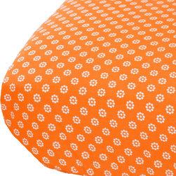 Oliver B - Mod-Dots Crib Sheet in Orange - Mod-Dots Crib Sheet - Orange