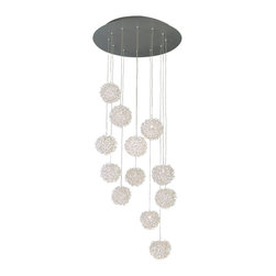 Trend Lighting - Snow Pendant - Now you can bring the beauty of a soft snowfall into your home, without the chill. These illuminated orbs hang down like suspended, unique flakes in the air, providing a radiance to your room that no storm ever could.