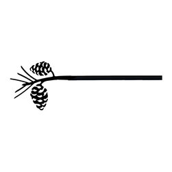 Village Wrought Iron - 89 Pinecone Curtain Rods - 89 Pinecone finely crafted curtain rods are available in four sizes. 21-35 inch, 36-60 inch, 61-112 inch and 113-130 inch. Rod lengths do not include the Silhouette or Finial ends. Standard end bracket mounting hardware and screws are included unless an alternate rod mounting hardware is selected. Our curtain rods are decorative, functional, long lasting and handcrafted in the USA using the finest materials and time- tested methods of craftsmanship. Quality and durability are priorities for our products. Our coated products have one of the most long-lasting finishes available - a flat black baked-on powder coated finish that will last for many years. Silhouette approximate size is 3 7/8 Inch W x 4 1/2. Rod diameter is .50 inch. Silhouettes are welded in place for added security. Standard Center Support mounting hardware and screws are included for curtain rods 61 inches and longer unless alternate mounting hardware is selected. Supporting American Workers where the timeless trade of ironworking can still be found.