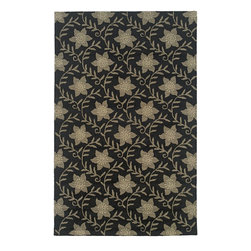 Rizzy Rugs - Country & Floral Country 5'x8' Rectangle Black Area Rug - The Country area rug Collection offers an affordable assortment of Country & Floral stylings. Country features a blend of natural Black color. Hand Tufted of New Zealand Wool Blend the Country Collection is an intriguing compliment to any decor.
