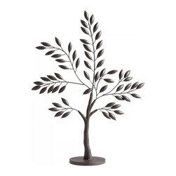 "Joshua Marshal - Graphite 30.5"" Large Sapling Tree Sculpture - Graphite 30.5"" Large Sapling Tree Sculpture"