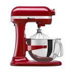 KitchenAid KP26M1XER Professional 600 Series Stand Mixer - Empire Red - Powerful, durable, and versatile, the KitchenAid KP26M1XER Professional 600 Series Stand Mixer - Empire Red will quickly become any cook's best friend. Finished in a fun, bright empire red, this all-metal mixer features a 575-watt motor, direct-drive transmission, and all-steel gears to give you years of dependable service.