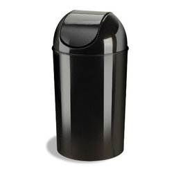 Umbra - Grand 10-Gallon Swing-Top Waste Can, Black by Umbra - The original Grand swing-top waste can by Umbra. Constructed of durable yet lightweight polypropylene.