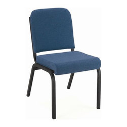 KFI Seating - Stacking Chair w 2 in. Thick Upholstered Roll - Color: BlueSet of 2 stacking chairs. 2 in. Upholstered roll seat. 1 in. Square tubing steel-18 gauge frame. 0.75 in. Rear leg bar. Stack bumpers to prevent scratches. Stacks 6 to 8 high. Pictured in Blue. Seat size: 16 in. W x 20 in. D. Seat height from floor: 18 in. H. Total: 19 in. W x 23 in. D x 34.75 in. H